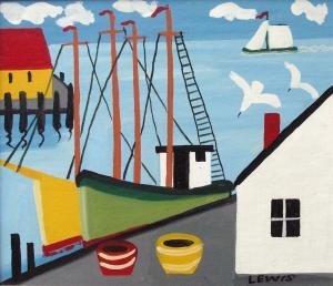 Maud Lewis Harbour Scene